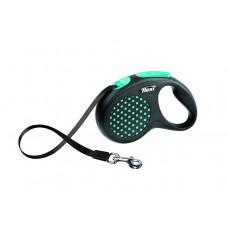 Рулетка-ремень для собак до 15 кг, 5 м, голубая , Design S Tape 5 m, blue 350 г