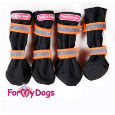Сапоги черно-оранжевые (5) FMDX612G-2015