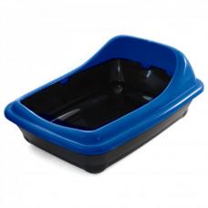 Туалет для кошек прямоугольный с ассиметричным бортом Волна 455*350*200мм Гамма