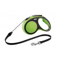 Рулетка-трос для собак до 20кг, 5м, зеленая, New Comfort M Cord 5 m, green 230 г
