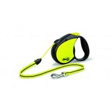 Рулетка-трос светоотражающая для собак до 20кг, 5м, Neon Reflect M cord 5m 350 г
