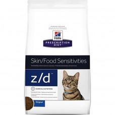 Hill's Prescription Diet z/d Food Sensitivities 2 кг для кошек для лечения острых пищевых аллергий, Хилс для кошек