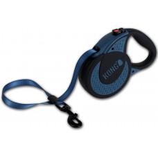 Рулетка-ремень для собак до 70кг 5метров синяя Kong Ultimate XL