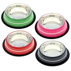 Миска нескользящая цветная с полоской 2,8 л VM-2510 (F)