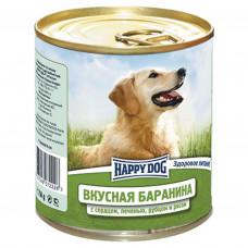 Happy dog банка с бараниной сердцем печенью рубцом и рисом 750 г , Хэппи Дог для собак, консервы