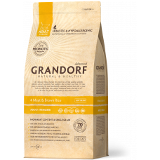 Grandorf Probiotic 4 Meat & Brown Rice Adult Sterilised д/кош стерил 4мяса/рис 400гр, Грандорф для кошек