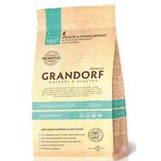 Grandorf Probiotic 4 Meat & Brown Rice Adult Indoor 400 гр, Грандорф для кошек
