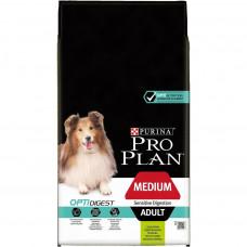 Pro Plan Optidigest Medium Adult 7кг для собак средних пород с чувствительным пищеварением с ягненком