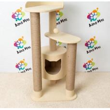 Домик для кошек, с когтеточкой, 110 см. Арт. 35