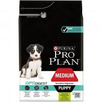 Pro Plan Medium Puppy 12 кг с ягненком чувствительным пищеварением, Проплан для щенков