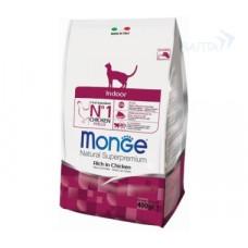 Monge Cat Indoor Chicken 400г для домашних кошек, Монж для кошек