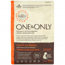One&Only junior all breeds turkey&brown rice 3 кг