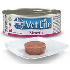 Фармина  Vet Life Cat Struvite Паштет диета д/кошек при МКБ , 85г
