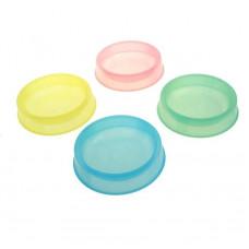 Keiko Миска д/кош/соб пластик прозрачная 19*19*4,2 см