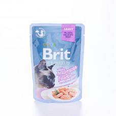 Brit premium пауч филе лосося в соусе 85 г , Брит