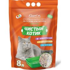 Чистый котик Кристаллит Наполнитель для кошачьего туалета 8 л