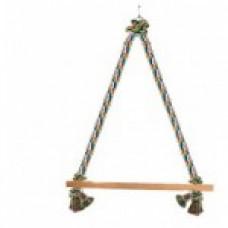 """Triol Игрушка для птиц""""Веревочные качели"""",430*300мм"""