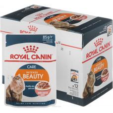 Royal Canin Intense Beauty 85 г кусочки в соусе для кошек 1-7 лет : идеальная кожа и шерсть, , Роял