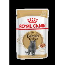 Royal Canin Adult British 85 г паучи для взрослых британских кошек соус