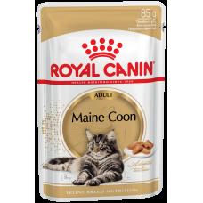 Royal Canin Adult Maine Coon 85 г паучи для мейн кунов (паштет),  , Роял Канин для кошек (консервы,