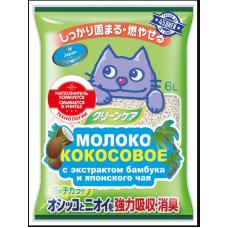 Наполнитель растительный,молоко кокосовое с экстрактом бамбука и японского чая6л (ультракомк) ЯПОНИЯ