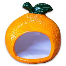 """Домик керамический""""Апельсинка"""",КерамикАрт,150 мл,9*7,5*9см"""