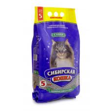 Сибирская Кошка Супер 5л Комкующийся наполнитель
