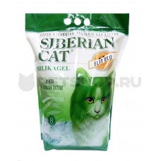Сибирская Кошка Элит(зеленый) 4л ЭКО силикагелевый наполнитель