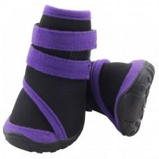 Ботинки д/соб. YXS136-XL черные с фиолет.,75*70*855 Триол