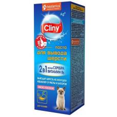 Cliny 30мл Паста д/выгонки шерсти лосось,  Клини для кошек