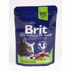 Brit premium пауч д/стерил . курица 100г , Брит