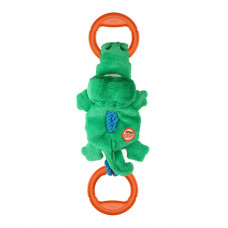 GiGwi Крокодил на веревке с ручками с пищалкой
