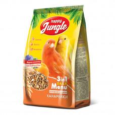 Happy Jungle Корм для канареек основной рацион 3 в 1 500гр