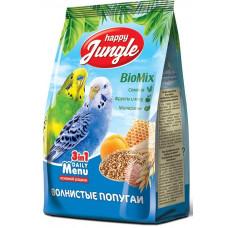 Happy Jungle Корм для волнистых попугаев основной рацион 3 в 1 500гр