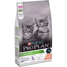Pro Plan Sterilised Junior Salmon 1,5кг для стерелизованных котят с лососем и рисом