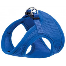 Мягкая шлейка-жилетка с поводком,синий S .обхват груди 350 мм. поводок 15*1200 мм