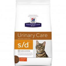 Hill's Prescription Diet s/d Urinary Care 1,5 кг для взрослых кошек против МКБ с курицей