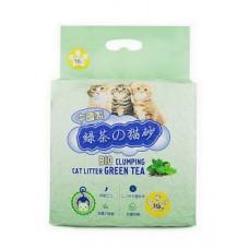Hakase Arekkusu 10л Зеленый чай комкующийся , Японский наполнитель