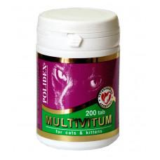 POLIDEX 200 Multivitum витамины д/кошек мультивитум