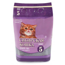 Сибирская Кошка Супер для котят 5л Комкующийся наполнитель