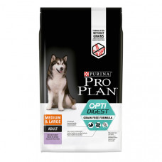 Pro Plan Opti Digest Medium/Maxi Grain Free 2,5кг для собак средних и крупных пород с чувствительным пищеварением с индейкой